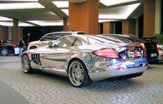 White Gold Plated SLR AMG, Mall of the Emirates, Dubai...