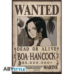 ONE PIECE Poster One Piece Wanted Boa Hancock (52x35)