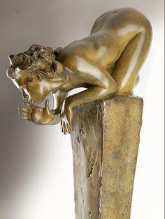 Sculpture Bronze - Conversation intime avec Séraphine - Fred Fichet - Sculpture