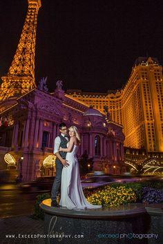 Las Vegas Strip Photo Tour - Las Vegas Wedding Photographer, Exceed Photography, Vegas Wedding Photos