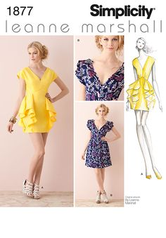 Simplicity 1877 from Simplicity patterns is a Misses' Dresses sewing pattern