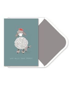 Look what I found on #zulily! Poodle Boxed Notecard & Envelope - Set of 10 #zulilyfinds