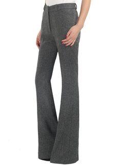 Ella Mid Rise Bell Bottom Fine Wool Trousers,  $239.00