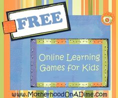 30 (plus) FREE Online Learning Games for Kids