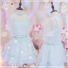 Pastel My Love Daisy Gauze Top/Skirt SP168252