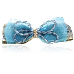 Chiffon Bowknot Shining Crystal Hair Clip Womens Hairpin Barrette Color Blue by DIGABI >>> For more information, visit image affiliate link Amazon.com