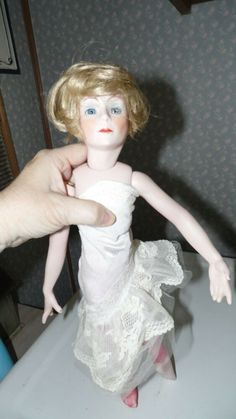 """12/"""" White Lace Doll Tights Pantyhose Antique Dolls Stockings 16/"""" Doll aprox."""