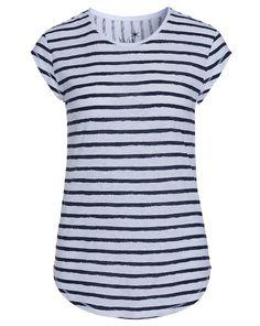 ca9ac2a57c94 Shirt mit Streifen - weiß blau von JUVIA bei sixdays.fashion jetzt kaufen