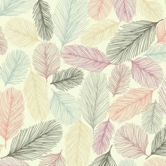 Illustrated Feathers Colorful Line Drawi custom wallpaper by teja_jamilla for sale on Spoonflower Pattern Paper, Pattern Art, Pattern Design, Feather Pattern, Feather Print, Motifs Textiles, Textile Patterns, Art Graphique, Groomsmen