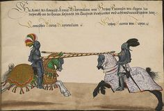 manuscripts of jousting | medieval tournament - knights jousting