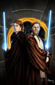 Anakin Skywalker & Obi-Wan Kenobi - Star Wars - Lawrence Reynolds