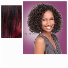 Instant Weave Moa  - Color DXRRB1 - Synthetic (Curling Iron Safe) Half Wig