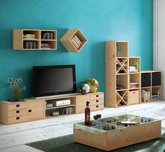 Estantería de madera en kit Dinamic de cm y 50 kg max. Furniture Plans, Merlin, Decoration, Bookcase, Shelves, Kit, Home Decor, Fibres, Montessori