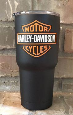 Harley Davidson  Personalized 30 oz Custom by CustomCoatedCups