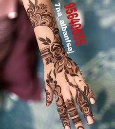 No photo description available. Arabian Mehndi Design, Khafif Mehndi Design, Floral Henna Designs, Arabic Henna Designs, Stylish Mehndi Designs, Mehndi Design Pictures, Mehndi Designs For Girls, Unique Mehndi Designs, Wedding Mehndi Designs
