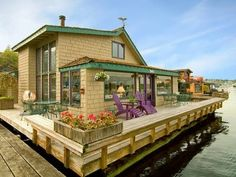"""On Lake Union--We were on the East   Side in Evergreen, so we crossed Lake Union on the Floating bridge  in order to go into Seattle proper.  The houseboats lined the shore,  Including the famous """"Sleepless in  Seattle"""" one!"""