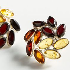 Amber laurel leaf earrings from The Museum Shop of The Art Institute of Chicago