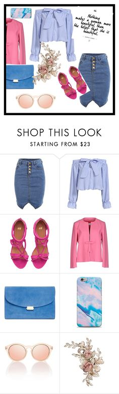 """""""#Bluebabe"""" by sanidaskrebo ❤ liked on Polyvore featuring RED Valentino and stripedshirt"""