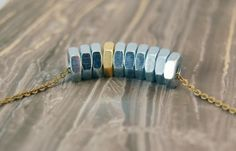 Hex Nut necklace | Crafts / Upcycling
