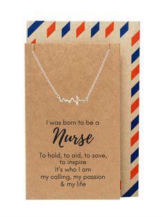 Best Selling - Original - ECG Heartbeat Necklace by Quan Jewelry Nursing School Graduation, Nursing School Tips, Nursing Career, Nursing Notes, Nursing Degree, Nursing Exam, Graduation Parties, Nursing Assistant, Funny Nursing