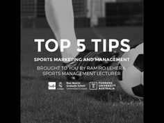Top 5 tips for Sports Marketing & Management - YouTube