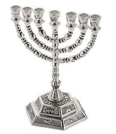 twelve tribe silver plated menorah