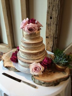 4 tier cake for Saima and Geof's wedding in May 2015 at Micklefield Hall. Made by Genuine Cakes.  www.micklefieldhall.com