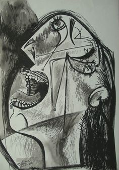 Picasso - study for Guernica: http://www.pablopicassoguernica.com/projects/picassoguernica/ #picasso #art