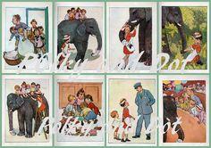 Vintage digital download Ameliar Anne illustrations by polkyanddot, $3.20