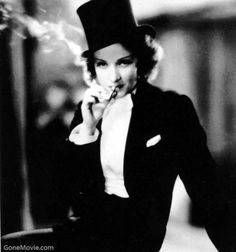 """Dietrich, Morocco """"Dietrich in a suit is one of the single most attractive things that has existed on this earth."""" - @lostsplendor"""