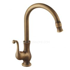 $86 - Antique Brass 360 Rotate Kitchen Faucets Vessel Mount