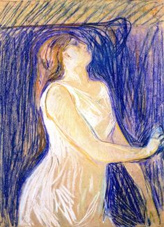 Edvard Munch ~ Study of a Model, 1893