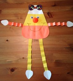 Candy Corn Girl Craft - Candy Corn Man Craft - Halloween Craft - Preschool Craft