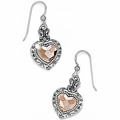 Valentines Day???   Rosy Heart French Wire Earrings available at #BrightonCollectibles