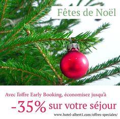 En réservant dès maintenant votre séjour pour les fêtes de fin d'année et les vacances de Noël, vous bénéficiez de l'offre Early Booking !  -> www.hotel-albert1.com/offres-speciales/