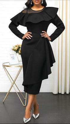 2019 Fashion Dress Outfit For Holiday Party, Lace Summer Dresses, Winter Dresses, Dress Outfits, Casual Dresses, Fashion Outfits, Dress Fashion, Elegant Dresses For Women, Club Party Dresses, Latest African Fashion Dresses