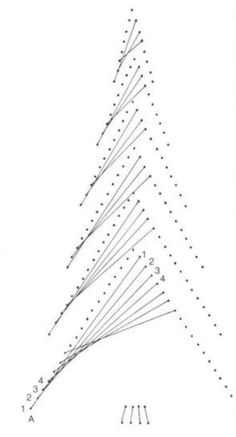 Christmas Tree - lace, needlework, lace drawings, lessons and advice - Scheme II: String Art Diy, String Crafts, String Art Templates, String Art Patterns, Diy Christmas Cards, Christmas Crafts, Christmas Tree, Christmas Clothing, Green Christmas