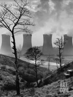 Cooling Towers of a Power Plant - Agecroft, Manchester 1966 Photographic Print by Shirley Baker at eu.art.com