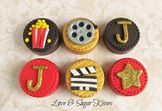 Film-Themed Cake Toppers