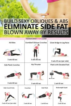 Best Exercise to Eliminate Side Fat and Build Sexy Obliques & Abs! Ab blast home workout. This is a quick and intensive abs workout that engages all of the muscles of your core. It will help… Continue Reading → Pilates Abs, Pilates Workout, Tone Abs Workout, Hiit, Abs And Obliques Workout, Oblique Workout, Curves Workout, Side Fat Workout, Workout Meals