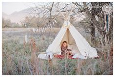 personalized props  fun TeePee the banner is cute  Family Picture Time!