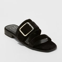 ba64a1a4d9ea9 Add a luxe accent to your laid-back looks with the Metzy Velvet Slide  Sandals