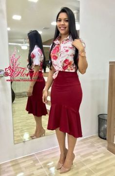 Floratta Modas - Moda Evangélica - A Loja da Mulher Virtuosa Curvy Girl Fashion, Modest Fashion, Skirt Fashion, Fashion Outfits, Womens Fashion, Church Fashion, Casual Outfits, Cute Outfits, Skirt Outfits