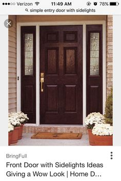 Good This Prehung Single Entry Door With 2 Sidelights Has A Mahogany Wood  Texture Over A Durable And Insulated Fiberglass Interior.