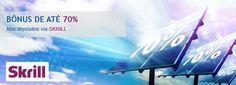GANHE 70% DE BÔNUS EM CADA DEPÓSITO VIA SKRILL. No período de 18 de agosto a 14 de setembro a Companhia RoboForex realiza a promoção especial: Skrill 70%. Quando cada cliente recebe até 70 % de Bônus sobre o valor de cada depósito na conta de negociação através do sistema Skrill. Não espere, pegue seu Bônus hoje mesmo! CLIQUE AQUI! http://www.roboforex.pt/operations/bonuses-promotions/70-skrill-082014-bonus/