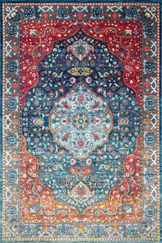 Nourish your sense of style with this fresh nuLOOM Shirlee Vintage Medallion Framed Floral rug. Diy Carpet, Modern Carpet, Carpet Ideas, Wall Carpet, White Carpet, Persian Carpet, Persian Rug, Cheap Carpet Runners, Traditional Area Rugs