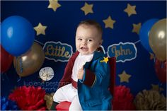 Little Prince Cake Smash | CT Smash the cake photographer | Luciene Pestana Photography | West Hartford CT_0085.jpg