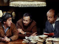 Jean Lefebrve, Michel Serrault et Bernard Blier dans Ce est pas Parce qu'on a rien a dire Qu'il Faut fermer sa gueule dirigé par Jacques Bernard, 1975