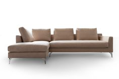 Modern #corner #sofa with metal legs. Recommend in suit fabric range. Interested in this FAB corner ? Visit http://www.funique.co.uk for more informations