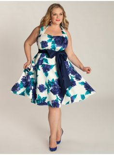 I never, ever show my upper arms but this IGIGI Vintage Floral Dress would trump that. Floral! My fav colors!